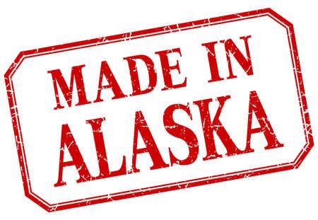 alaska: Alaska - made in red vintage isolated label Illustration