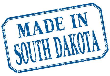 south dakota: South Dakota - made in blue vintage isolated label
