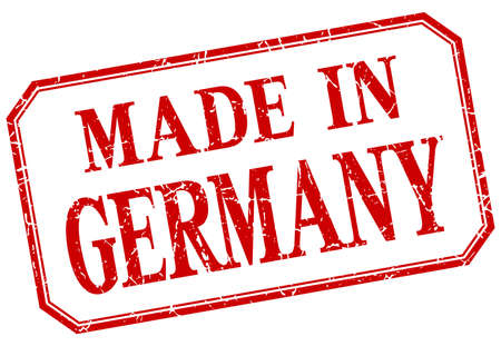 made in germany: Germany - made in red vintage isolated label