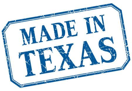Texas - realizzato in etichetta isolata vintage blu Archivio Fotografico - 48641182