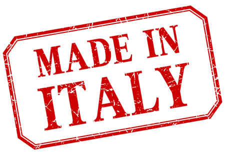 made in italy: Italy - made in red vintage isolated label Illustration