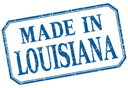 louisiana: Louisiana - made in blue vintage isolated label Illustration
