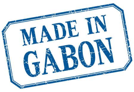 gabon: Gabon - made in blue vintage isolated label Illustration