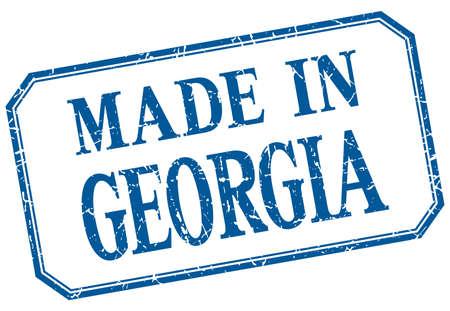 georgia: Georgia - made in blue vintage isolated label Illustration