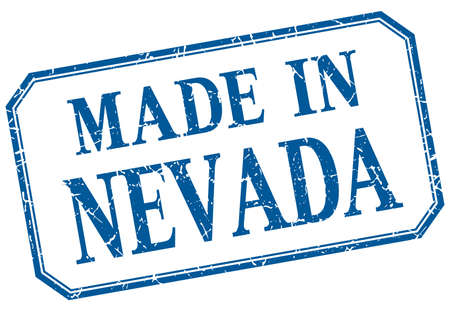 nevada: Nevada - made in blue vintage isolated label