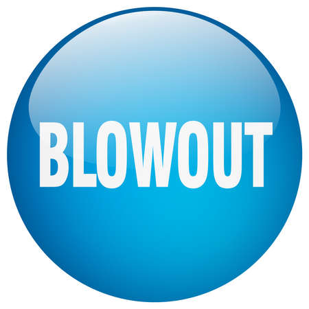 blowout: blowout blue round gel isolated push button Illustration