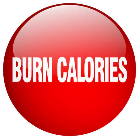 burn: burn calories red round gel isolated push button Illustration
