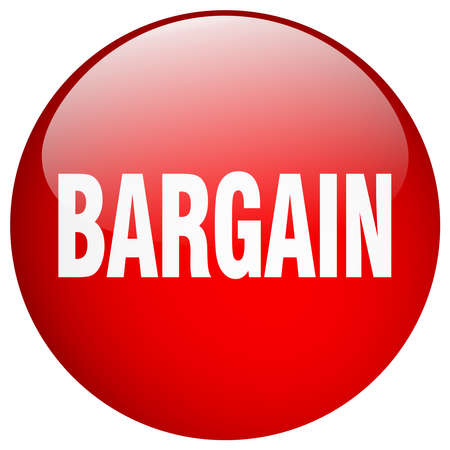 bargain: bargain red round gel isolated push button