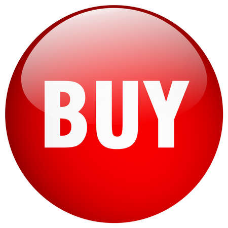 buy button: buy red round gel isolated push button