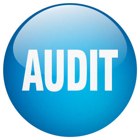 gel: audit blue round gel isolated push button