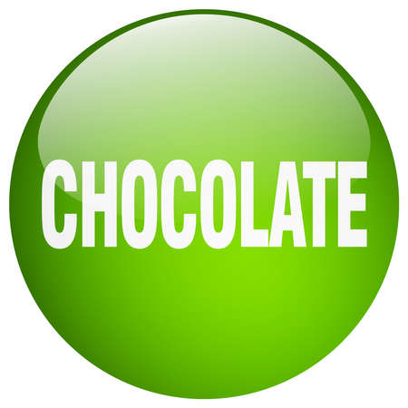 gel: chocolate green round gel isolated push button Illustration