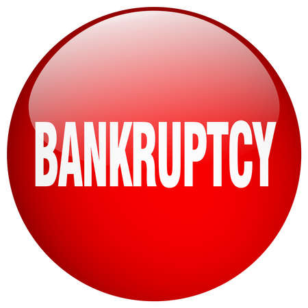 bankruptcy: bankruptcy red round gel isolated push button