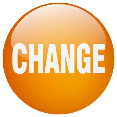 gel: change orange round gel isolated push button