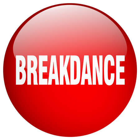 breakdance: breakdance red round gel isolated push button