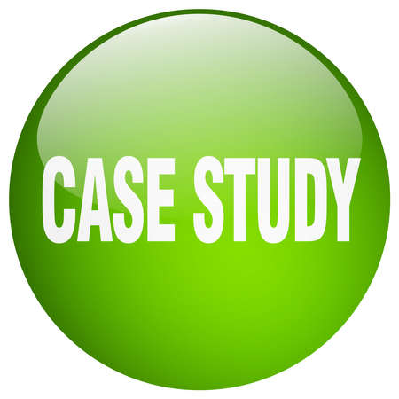 case study: case study green round gel isolated push button Illustration