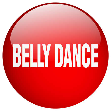 belly button: belly dance red round gel isolated push button Illustration