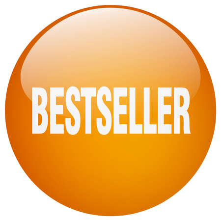 bestseller: bestseller orange round gel isolated push button