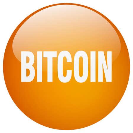 gel: bitcoin orange round gel isolated push button