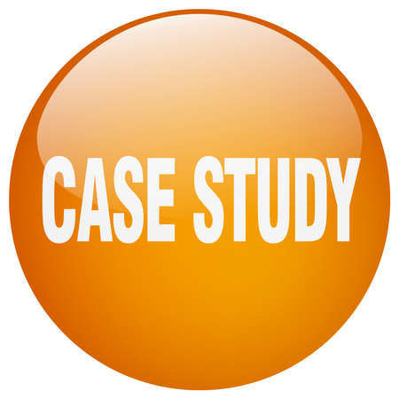 case study: case study orange round gel isolated push button