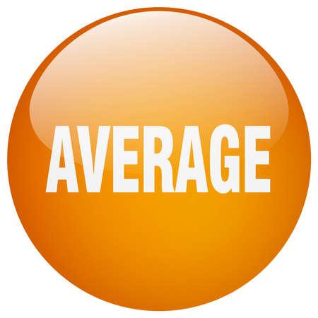 average: average orange round gel isolated push button