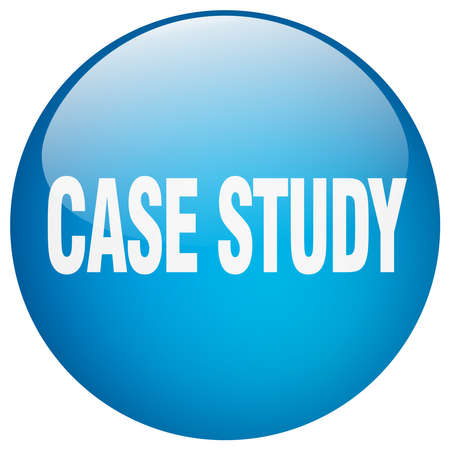case study: case study blue round gel isolated push button