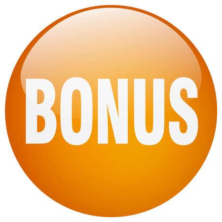 gel: bonus orange round gel isolated push button