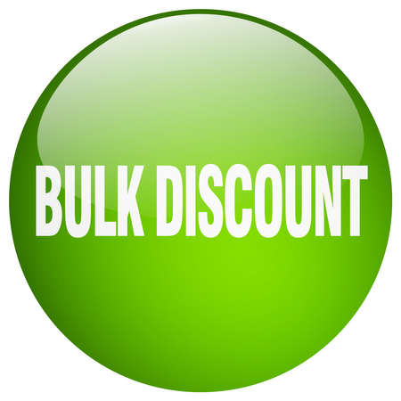 bulk: bulk discount green round gel isolated push button