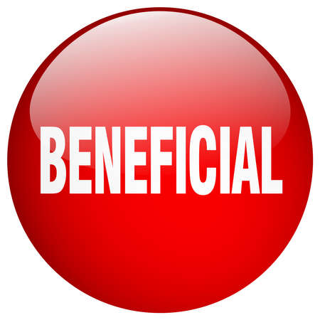 beneficial: beneficial red round gel isolated push button Illustration