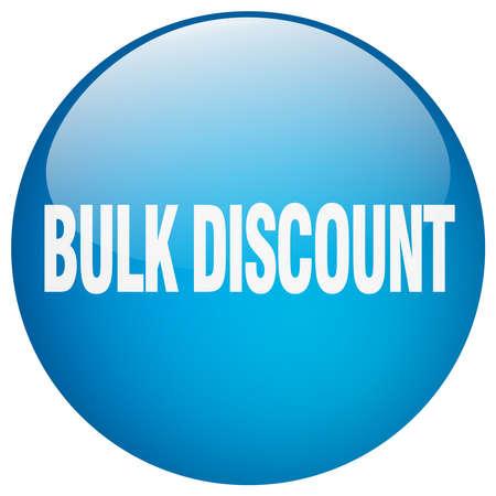 bulk: bulk discount blue round gel isolated push button