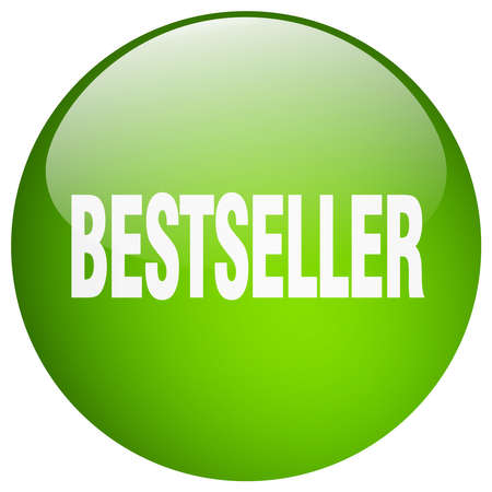 bestseller: bestseller green round gel isolated push button