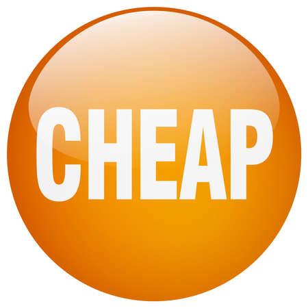 cheap: cheap orange round gel isolated push button