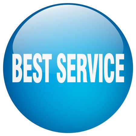 best service: best service blue round gel isolated push button