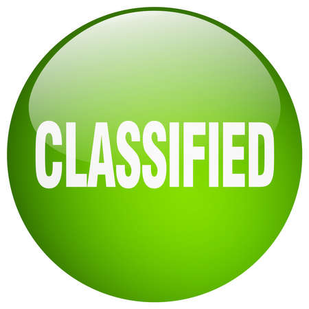 classified: classified green round gel isolated push button