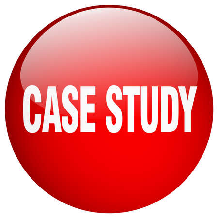 case studies: case study red round gel isolated push button