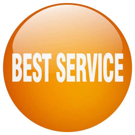 best service: best service orange round gel isolated push button