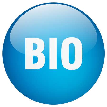 gel: bio blue round gel isolated push button
