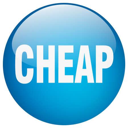 cheap: cheap blue round gel isolated push button