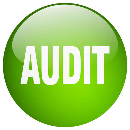 gel: audit green round gel isolated push button Illustration