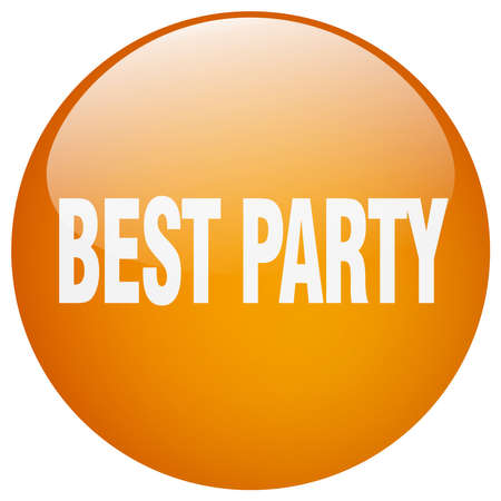 best party: best party orange round gel isolated push button