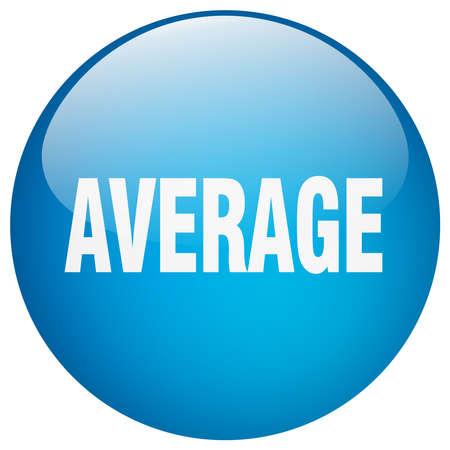 average: average blue round gel isolated push button