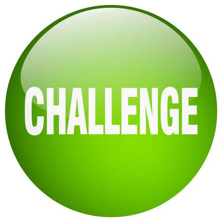 gel: challenge green round gel isolated push button Illustration