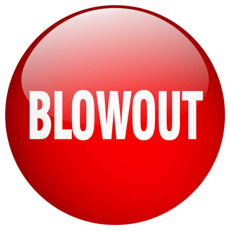 blowout: blowout red round gel isolated push button