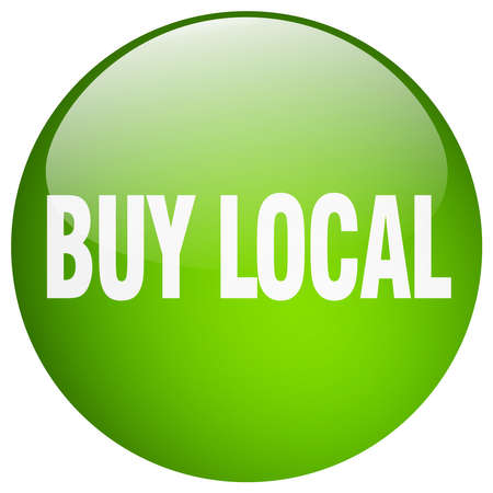 buy local: buy local green round gel isolated push button