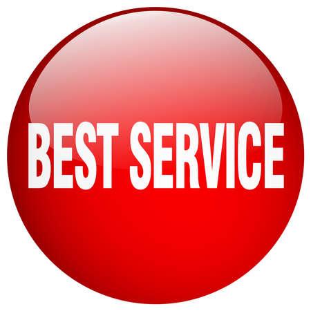 best service: best service red round gel isolated push button
