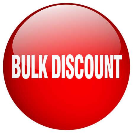 bulk: bulk discount red round gel isolated push button