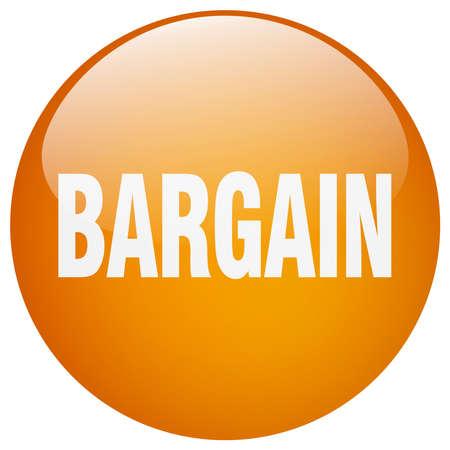 bargain: bargain orange round gel isolated push button Illustration