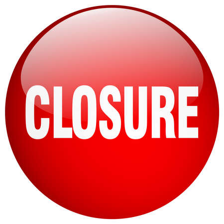 closure: closure red round gel isolated push button Illustration