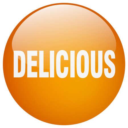 gel: delicious orange round gel isolated push button Illustration