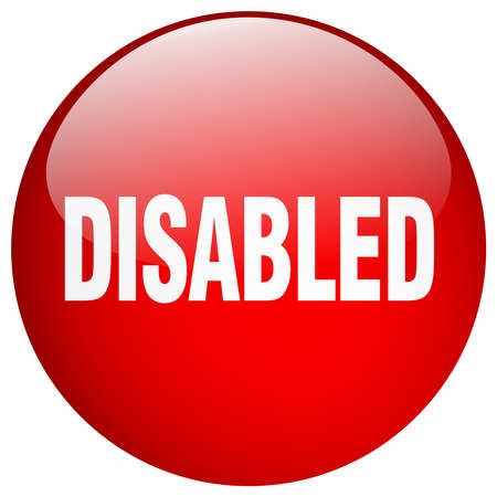 push button: disabled red round gel isolated push button