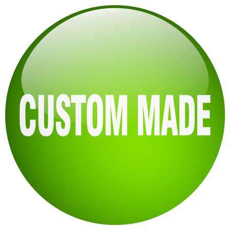 custom made: custom made green round gel isolated push button Illustration